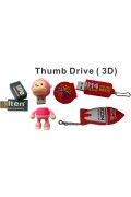 Rubberized Thumb Drive (3D)